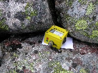 Measuring temperature and humidity in a montane boulder-field.